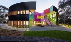 McBride Charles Ryan made a name for themselves with their penchant for angular geometry and playful design, and the Ivanhoe Grammar Senior Years