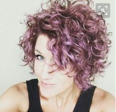 Curly Hairstyles for Women Messy Violet Curly Bob
