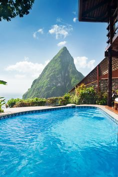 Ladera Resort .Private pools in Heritage Suites frame St. Lucia's spectacular scenery. #Jetsetter
