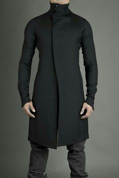 Blue/Black Fitted Coat by Raddest Men's Fashion Dark Fashion, Winter Fashion, Mens Fashion, Fashion Trends, Men Fashion Design, Fashion Outfits, Fashion Hats, Military Fashion, Fashion Looks