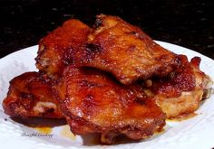 Cambodian Grilled Chicken - Also includes an Oven Baked Thigh version at the bottom of the post Cambodian Recipes, Cambodian Food, Grilled Chicken, Baked Chicken, Chicken Recipes, Backyard Bbq, Asian Cooking, Oven Baked, International Recipes