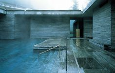 Therme Vals Spa in Vals, Switzerland from Peter Zumthor is a great example of specificity. He obviously put great care into what kind of material he would use to accent the landscape of the mountains of Switzerland.