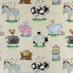Animal Farm 1 - Decorator Fabrics Animalsfavorable buying at our shop