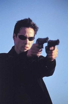 """Keanu Reeves (September as Neo in """"The Matrix"""", 1999 age 35 Keanu Reeves John Wick, Keanu Charles Reeves, Arte Assassins Creed, Man In Black, The Matrix Movie, Badass Movie, Carrie Anne Moss, Non Plus Ultra, Hollywood Actor"""