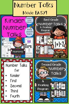 Are you trying to implement Number Talks into your daily routine but feel overwhelmed? Then this thorough and complete resource is for you! Receive a number talk lesson plan for each day of the year along with the matching resource cards needed! We offer a yearlong program for grades kinder, first, second, third, and fourth!