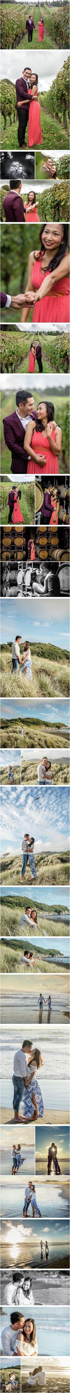Ivana & Milan Photography   SOLJANS VINEYARD AND MURIWAI BEACH ENGAGEMENT PHOTOS: ANN & CHUCK