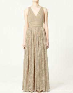 Zara Maxi-Dress with lace