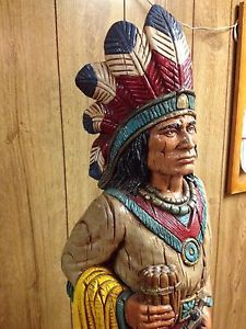 Antique Cigar Store Indians | Beautiful-BIG-Vintage-Handmade-Ceramic-Cigar-Store-Indian-Chief-Statue ...
