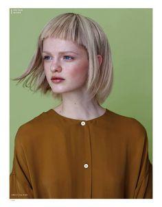 """Anne-Marie, """"LITTLE THINGS MAGAZINE"""" (JUNE 2013) #short #hair #blonde #straight #fringe"""