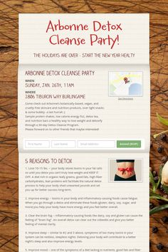 Arbonne Detox Cleanse Party!