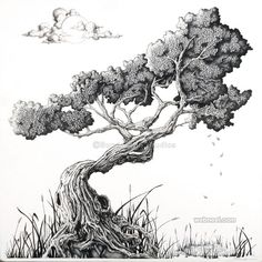 trees drawing Bonsai Tree artwork out of Asheville, Nc. The perfect gift idea as . Bonsai Tree artwork out of Asheville, Nc. The perfect gift idea as . Bonsai Tree Tattoos, Japanese Bonsai Tree, Ink Drawings, Tree Drawings, Drawing Trees, Realistic Drawings, Drawing Art, Tree Sketches, Tattoo Sketches