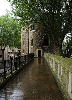 Tower of London. I stood on this section and had a picture taken right there by that tree. What a great memory.
