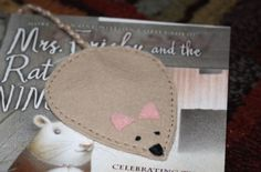 Mouse Bookmark | Wee Folk Art