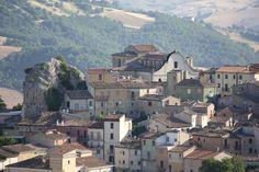Little mountain village called Castropignano, Italy