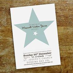 Star Christening Invitation