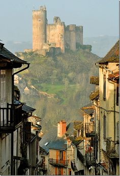 Castle on the Hill, Najac, France. I need to go to france SO bad Places Around The World, Oh The Places You'll Go, Places To Travel, Places To Visit, Around The Worlds, Travel Destinations, Belle France, Castle On The Hill, Castle Rock