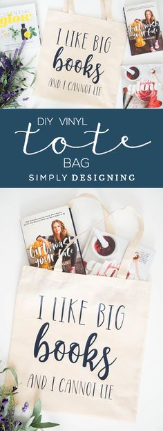 How to add vinyl to a tote bag for the library - DIY vinyl tote bag