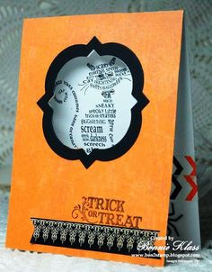 Stamping with Klass: Frightening Feline Trick or Treat