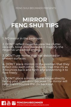 Mirror Feng Shui tips - mirror, mirror on the wall, people use . - Mirror Feng Shui tips – mirror, mirror on the wall, people like to use mirrors in your house to d - Feng Shui Mirrors, Feng Shui Bathroom, Feng Shui Your Bedroom, Feng Shui Cures, Feng Shui Tips, Home Renovation, Chinoiserie, Consejos Feng Shui, Feng Shui Colours