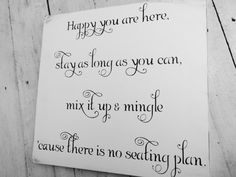Wedding Seating Sign Happy are you here stay as by TristanAndJuJu, $49.99