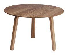 Table basse Bella Ø 60 / H 39 cm Chêne naturel - Hay - Décoration et mobilier design avec Made in Design