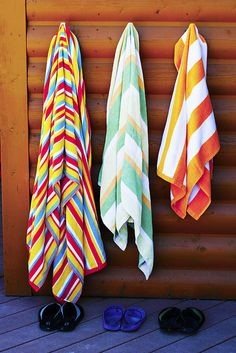 Every house guest gets a beach towel and flip flops to take home. =)