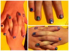 Diy | nails | girly | sparkly | nail art |