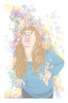 "Saatchi Online Artist Blake Peterson; Printmaking, ""Zoe (San Francisco)"" #art"