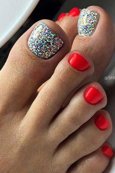 Pretty Toe Nails, Cute Toe Nails, Simple Toe Nails, Gel Toe Nails, Toe Nail Art, Gel Toes, Toe Nail Designs, Nails Design, Nail Designs Toenails