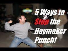 Self Defense Lesson: 5 Ways To Defend Against the Wild Haymaker Punch Krav Maga Self Defense, Self Defense Moves, Self Defense Martial Arts, Self Defense Weapons, Krav Maga Techniques, Martial Arts Techniques, Self Defense Techniques, Boxing Techniques, Israeli Self Defense