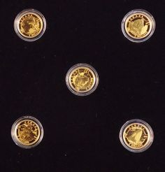 "2013 ""O Canada"" 99.99% Pure Gold 5-Coin Mint Proof Set in Beautiful Wooden Chest"
