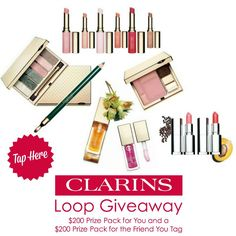 Clarins Instagram Giveaway -   $200 Clarins Cosmetic Prize Pack Instagram Giveaway (Canada Only)  Ends Feb 21st