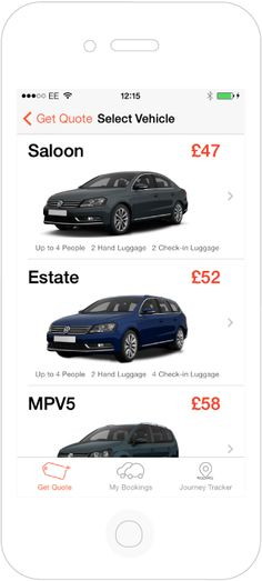 iPhone taxi booking service