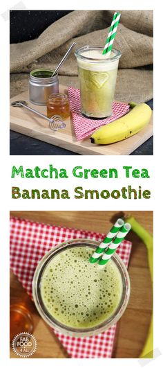 A healthy Matcha Green Tea Banana Smoothie using Milk - Fab Food 4 All milk banana matcha greentea smoothies milkshake healthyrecipes Fruit Smoothie Recipes, Yummy Smoothies, Smoothie Bowl, Yummy Drinks, Yummy Food, Delicious Recipes, Detox Smoothies, Matcha Smoothie, Delicious Dishes