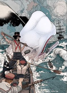 cinemagorgeous:  Moby Dick by artistJared Muralt.