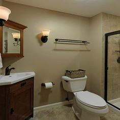 Bathroom On Pinterest Tan Bathroom Green Bathrooms And Hickory Cabinets
