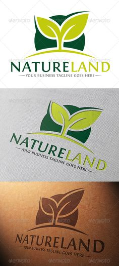 Natural Land Logo Template  #GraphicRiver         - Three color version: color, greyscale and single color.   - The logo is 100% resizable.   -