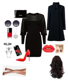"""i am going at opher"" by alexia-nistor on Polyvore featuring Balmain, Christian Louboutin, Chloé, Ivanka Trump, Alice + Olivia, Effy Jewelry, Lime Crime, Chanel, Amanda Rose Collection and Avon"
