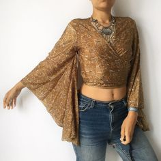 32a38cb6a3bd9 Depop - The creative community s mobile marketplace. Silk TopBell Sleeve Top