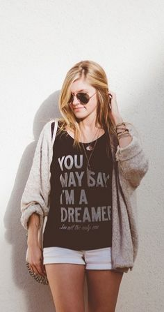 a perfect purchase for the #johnlennon fan. #thebeatles http://www.sevenly.org/womens/clothing/dreamer-v-neck-1?cid=InflPinterest0005SaraHarvey