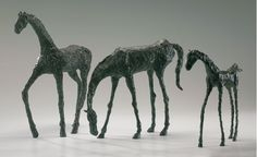 I love these horse sculptures, they have a very Giacometti-Esque style to them. Retail Price:  $385.00    http://somethingbeautifuljournal.blogspot.com/2009/06/artwork-on-budget-and-bonus-recipe.html