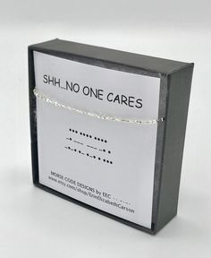 SHH…NO ONE CAReS Morse Code Necklace Funny Saying Jewelry Sarcastic Secret Message Secret Code Gold Bead Necklace Layering - jewelry diy bracelets Code Morse, Morse Code Words, Code Secret, Message Secret, Sister In Law Gifts, Bff Gifts, Morse Code Bracelet, Diy Bracelet, Beaded Bracelets