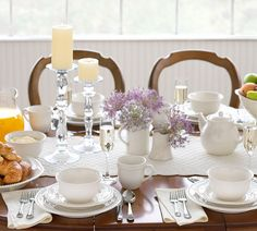 lovely breakfast table setting w Emma dishes