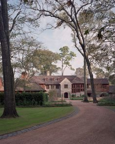 Front Drive and Grounds, Willowick Residence, Houston, Texas