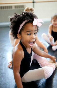 Excited little ballerina