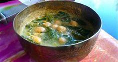 ινδική σούπα με σπανάκι και ρεβύθια - Pandespani.com