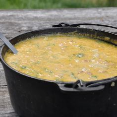 A great Potato Soup recipe for camping! Perfect for that cool fall day! Camping Recipes