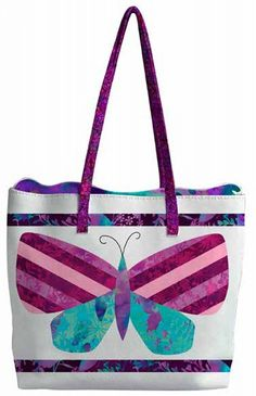 84c34667d Mariposa Meadow Tote Bag - Free Sewing Project Download patternpile pode  ser feita c/ reversee