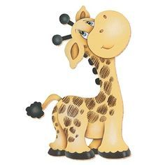 Cute little giraffe Clipart Baby, Cute Clipart, Tatty Teddy, Jungle Animals, Baby Animals, Cute Animals, Giraffe Art, Cute Giraffe, Baby Clip Art