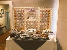 Custom built Donut Wall for my January wedding! donut bar